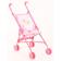 Коляска-трость для кукол MelogoMelobo розовый + принт с мишками