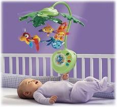Карусели, погремушки, коврики для малышей