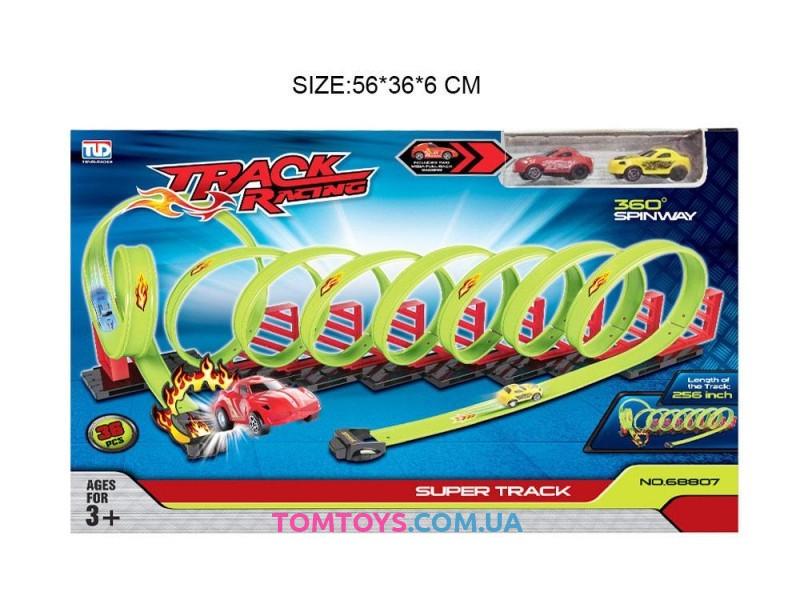 Игрушечный трюковой автотрек 'шальные гонки' 36 деталей 68807