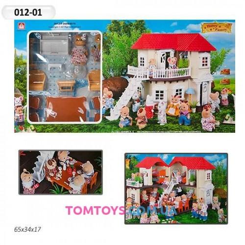 Загородный домик для Мишек Happy Family аналог Sylvanian Families 012-01