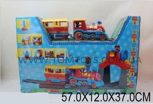 Железная дорога JIXIN с конструктором LITTLE TRAIN 8588B