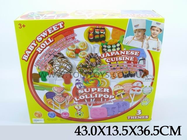 Тесто для лепки Colour Dough печенья конфеты суши Baby Sweet Roll 8803