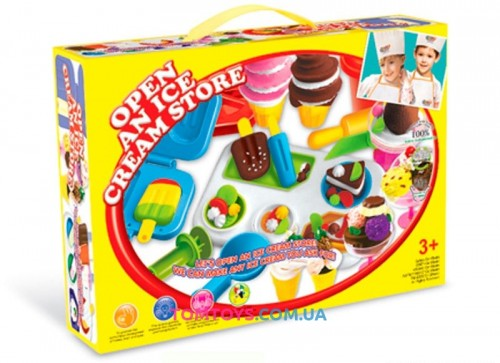 Тесто для лепки Colour Dough набор мороженого Open an ice cream store 8207