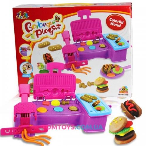 Тесто для лепки YIQIS набор барбекю Barbeque Play Set 8818B