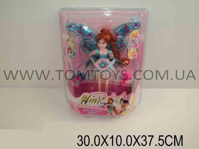 Кукла Winx с крыльями музыкальная светящаяся с (расческой и часами)  820