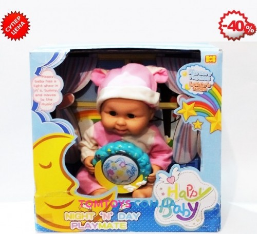 Пупс для девочек ночник Happy Baby 6817E