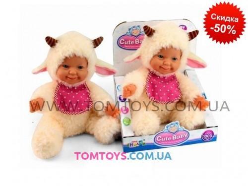 Интерактивная игрушка для детей 'Пупс овечка' CHUANG TOYS (повторюшка) CLC0004B