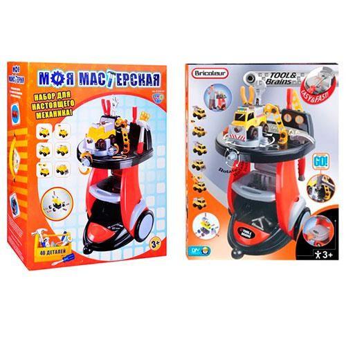 Набор детских инструментов для автосервиса тележка  M 0446