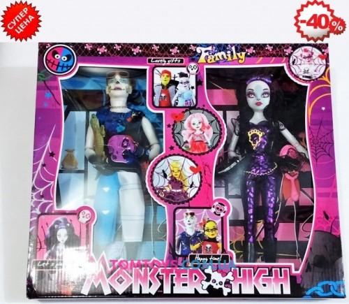 Набор кукол Монстер Хай из 2 штук шарнирные YY2028B