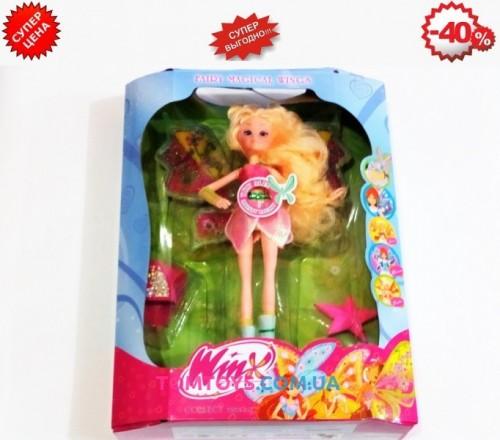 Кукла Winx Флора музыкальная светящаяся с расческой и часами 822C