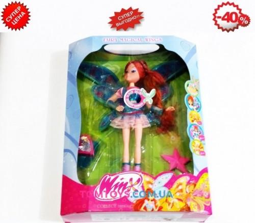 Кукла Winx Блум музыкальная светящаяся с расческой и часами 822A