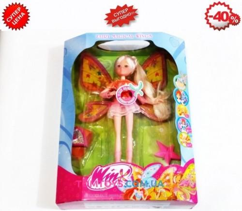 Кукла Winx Стелла музыкальная светящаяся с расческой и часами 822B