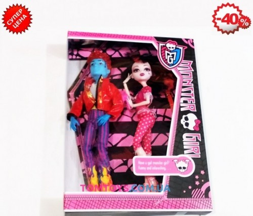 Набор кукол Монстер хай из 2 штук шарнирные YF1004A