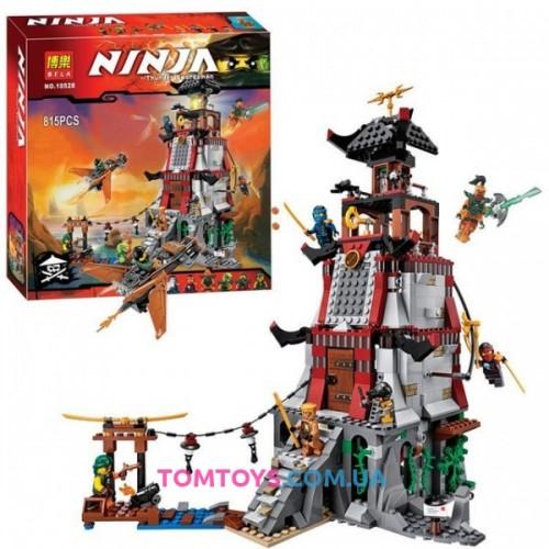Конструктор Bela Ninja аналог Lego Ninjago 70594 Осада маяка 10528