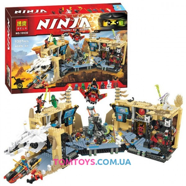 Конструктор Bela Ninja аналог Lego Ninjago 70596 Хаос в X-пещере Самураев 10530