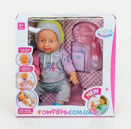 Кукла пупс Warm Baby с аксессуарами Беби Борн 8007-445