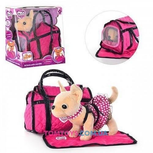 Детская интерактивная игрушка собака Кикки в сумочке M1621