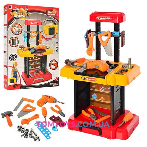 Игровой набор стол с инструментами в чемодане 661-181