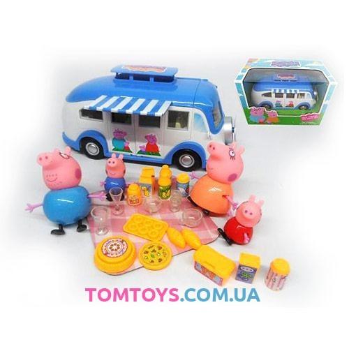 Игровой набор автобус Свнки Пеппы Веселый Кемпинг TM8851A
