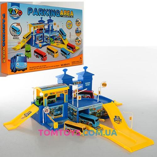 Игровой набор Паркинг для автобусов Тайо Parking area 660-211