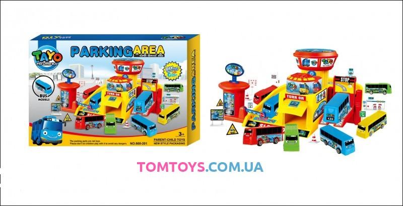 Игровой набор Паркинг для автобусов Тайо Parking area 660-201