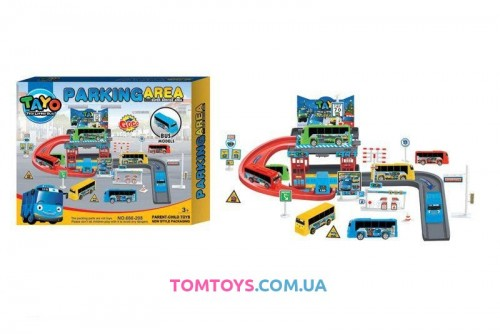 Игровой набор Паркинг для автобусов Тайо Parking area 660-208