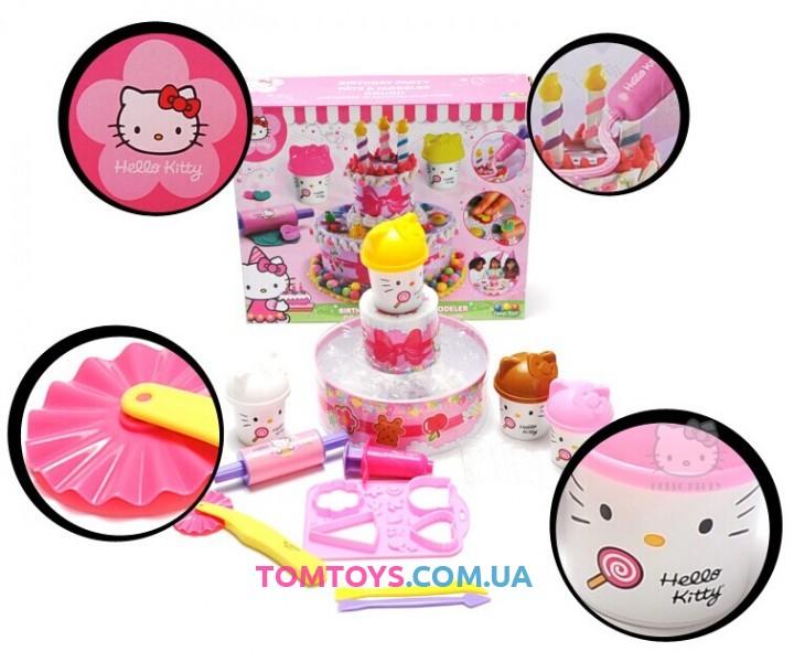 Тесто для лепки Hello Kitty Праздничный Торт и Печенье HKP009