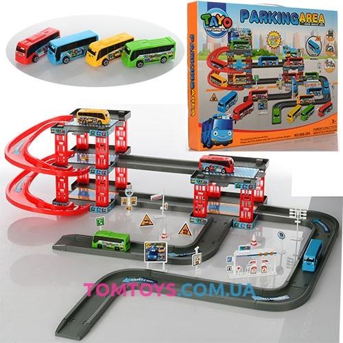 Игровой набор Паркинг для автобусов Тайо Parking area 660-204