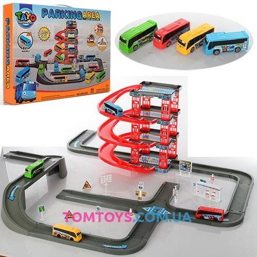Игровой набор Паркинг для автобусов Тайо Parking area 660-205