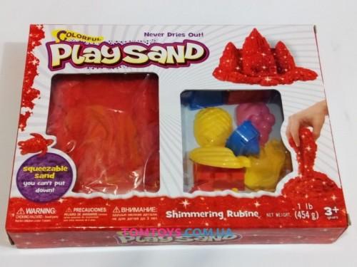 Кинетический песок Play Sand красный металик с формочками 6686F