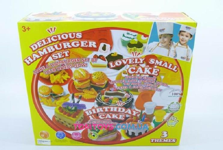 Мега набор тесто для лепки Colour Dough  вкусный микс тортики пирожное бургеры 8801