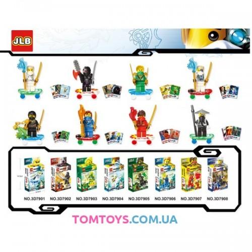 Конструктор JLB Ninja 8 видов Ниндзя Аналог Lego Ninjago 7901-06