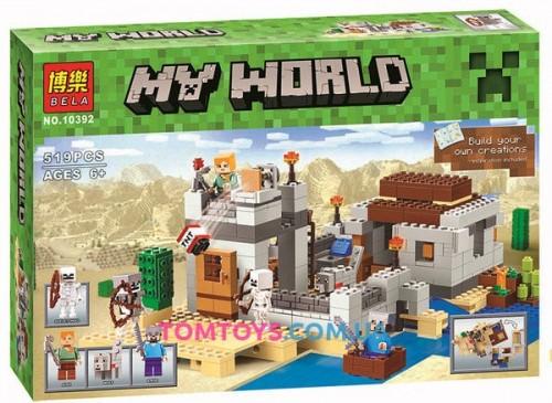 Конструктор Bela Minecraft Пустынная станция 10392