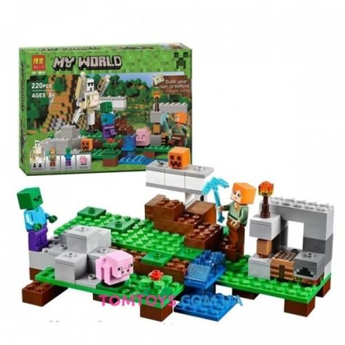 Конструктор Bela Майнкрафт аналог Lego Minecraft 21123 Железный голем 10468