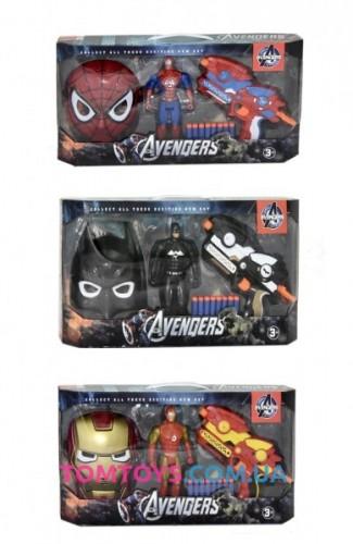 Бластер супер героев с маской и фигуркой 564-663
