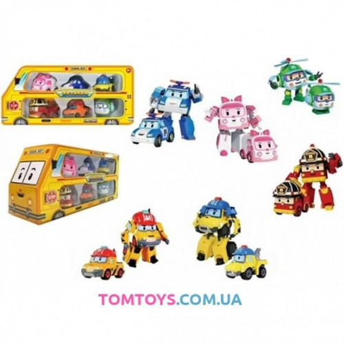 Игровой набор из 6 героев Робокар Поли 83168-9