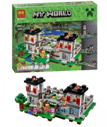 Конструктор Bela Майнкрафт аналог Lego Minecraft 21127 Крепость 10472