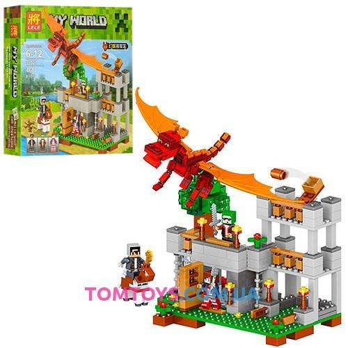 Конструктор LELE Minecraft Красный дракон 33027