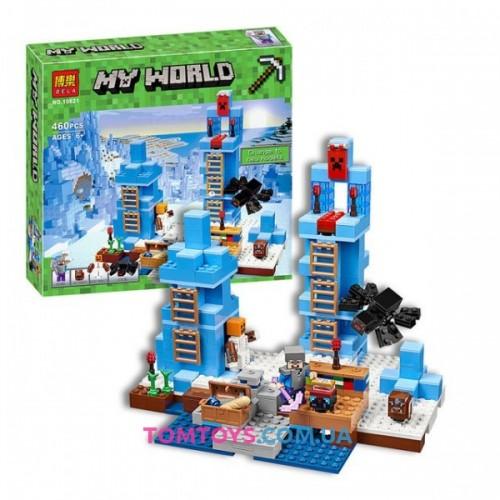Конструктор Bela Minecraft аналог Lego Minecraft 21131 Ледяные шипы 10621
