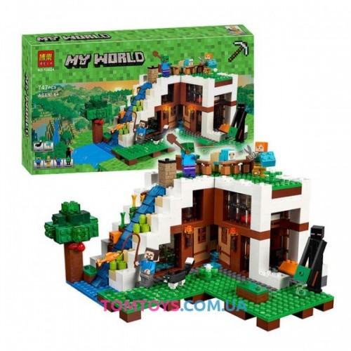 Конструктор Bela Майнкрафт аналог Lego Minecraft 21134 База на водопаде 10624