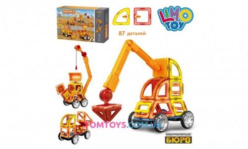 Магнитный конструктор строительный транспорт LT6001