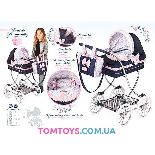 Классическая коляска для куклы DeCuevas 80214