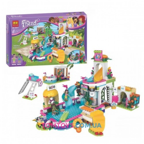 Конструктор Bela Friends аналог LEGO Friends 41313 Летний бассейн Хартлэйк 10611