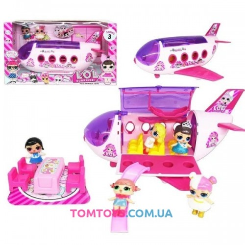 Игровой набор самолёт для кукол L.O.L TM 854B