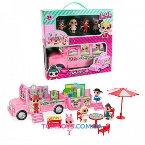 Игровой набор автобус LOL на пикнике 588-3