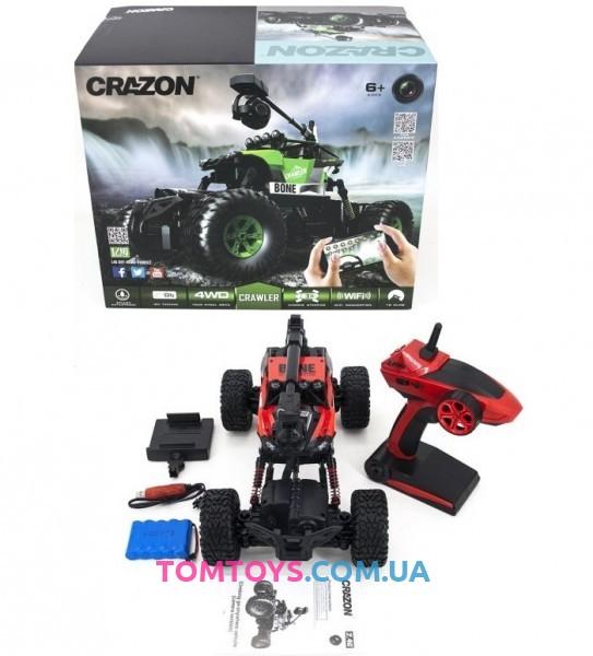Радиоуправляемый краулер амфибия Crazon Red Crawler 4WD c WiFi FPV камерой 171603B