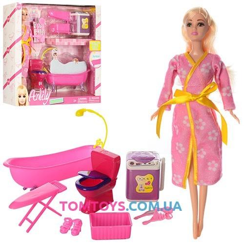 Детская кукла Anlily с ванной комнатой и аксессуарами 99073