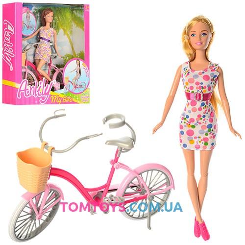 Детская кукла Anlily с велосипедом 99043