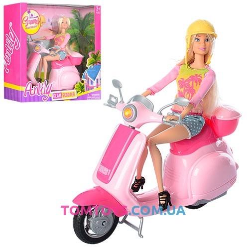 Игровой набор Anlily Кукла с мопедом 99044
