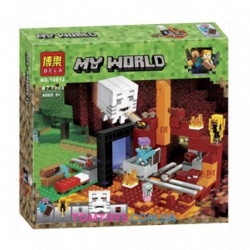 Конструктор Bela Майнкрафт аналог Lego Minecraft 21143 Портал в Нижний мир 10812